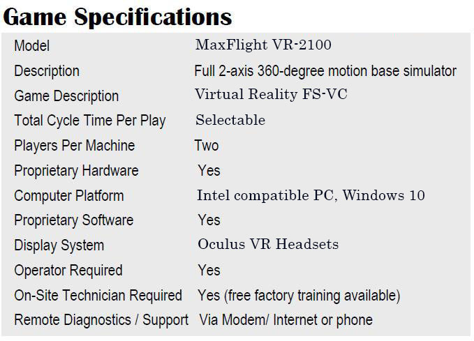 vr2100gamespecifications